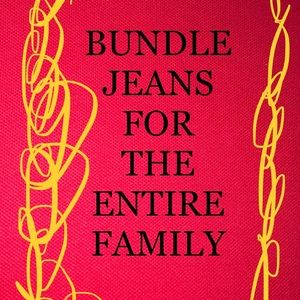 Denim - ☀️☀️☀️BUNDLE JEANS FOR THE FAMILY☀️☀️☀️
